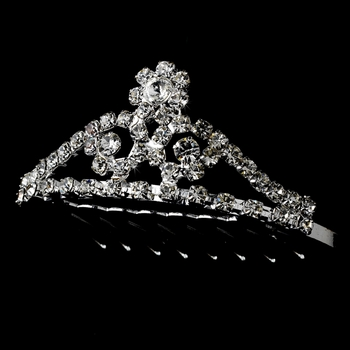 * Silver with Clear Crystals Child's Tiara HPC 155