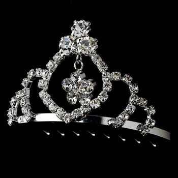 * Silver with Clear Crystals Child's Tiara HPC 241