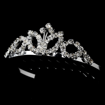 * Silver with Clear Stones Childs Tiara HPC-60077