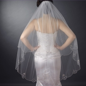 Single Layer Fingertip Bridal Veil (V 2012)