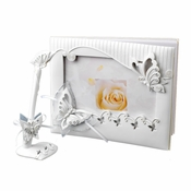 Sparkling Classic Butterfly Guestbook & Pen Set