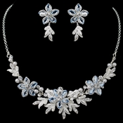 Stunning Light Blue Jewelry Set NE 8100