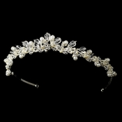 * Swarovski Crystal and Pearl Tiara HP 7050
