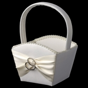 Two Rings Flowergirl Basket 763
