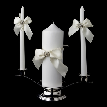 Two Rings Unity Candle Set 763