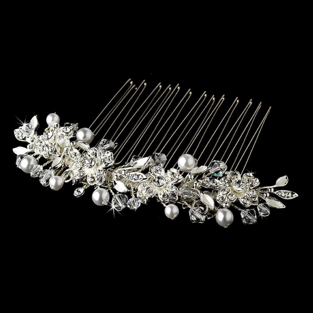 Swarovski Crystal Hair Combs Wholesale 8