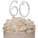 Vintage ~ 60th Anniversary, 60th Birthday Swarovski Crystal Cake Topper