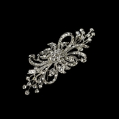 Vintage Silver Plated Clear Crystal Bridal Brooch 3268