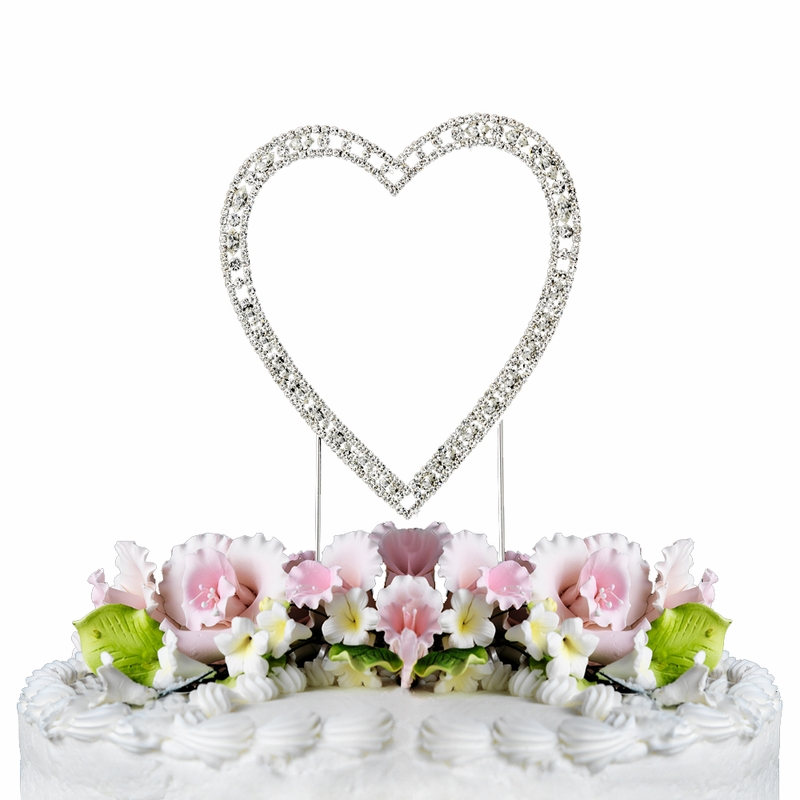 vintage swarovski crystal wedding cake topper single