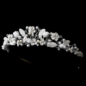 * White Floral Bridal Tiara HP 6180