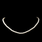 White Pearl Child's Necklace 405