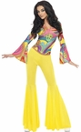 70's Groovy Babe Top and Bell Bottom Pants