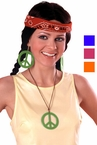 70's Peace Pendant and Earrings