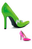 "Adult 4"" Jem Pumps - Lime or Hot Pink"