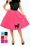 Adult 50's Felt Poodle Skirt - More Colors