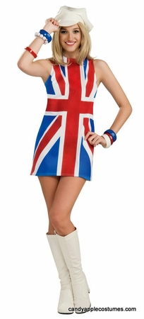 Adult 60's British Flag Dress