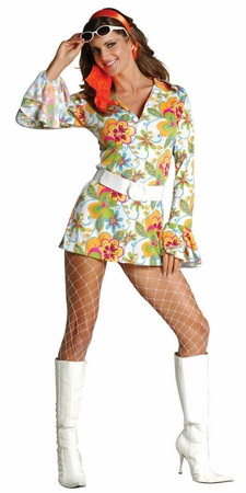 Adult 70's Sweetie Go Go Dress Costume