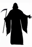 Adult Black Hooded Horror Robe Costume