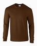 Adult Brown Long Sleeve Tee Shirt