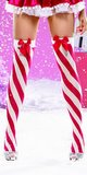 Adult Candy Cane Striped Thigh Highs
