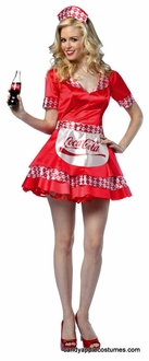 Adult Coca Cola Soda Girl Costume