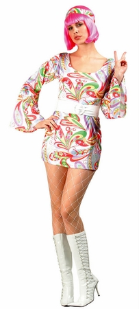 Adult Disco Dream Go Go Costume Plus Size