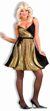 Adult Disco Gold Sexy 70's Costume