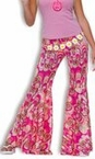 Adult Flower Power Bell Bottom Pants