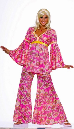 Adult Flower Power Hippie Costume