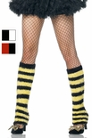 Adult Fuzzy Striped Leg Warmers - More Colors