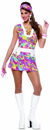 Adult Groovy Chic Go Go Costume
