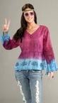 Adult Groovy Tie Dye Blouse 70's Costume