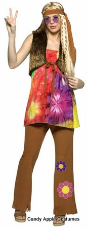 Adult Hippie Gal Costume
