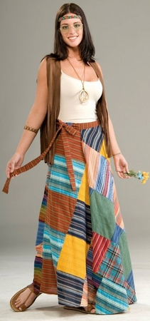 Adult Hippie Patchwork Wrap Skirt