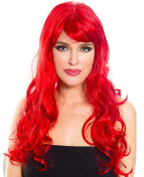 Long Curly Red Costume Wig 13