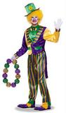 Adult Mardi Gras Clown Costume