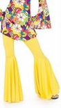 Adult Mellow Yellow Hippie Bell Bottom Pants