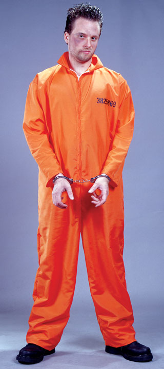 Adult Orange Jumpsuit Prisoner Costume - Candy Apple Costumes ...