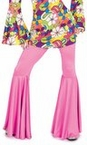 Women's Pink Hippie Bell Bottom Pants
