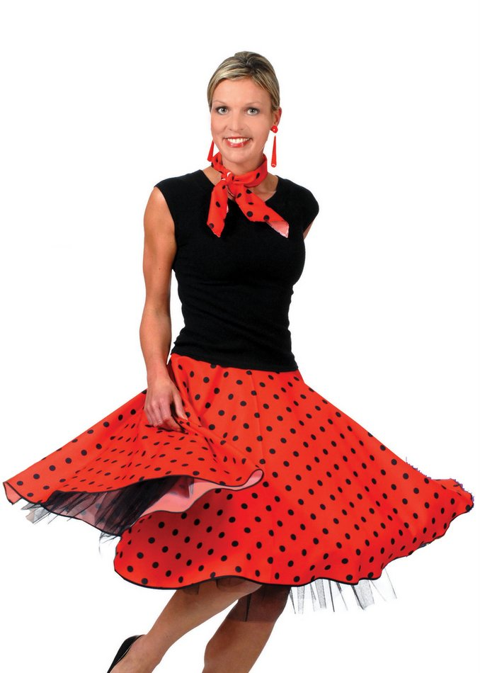 50s women poodle skirts