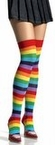 Adult Rainbow Thigh High Stockings