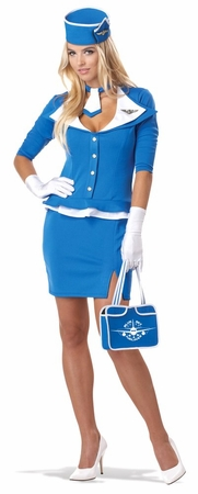 Adult Retro Stewardess Costume