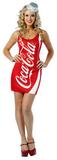 Adult Sexy Coca Cola Costume Dress