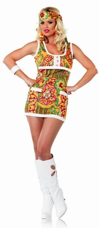 Adult Sexy Far Out Hippie Costume