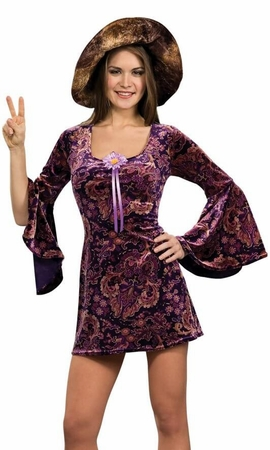 Adult Sexy Purple 60's Girl Costume