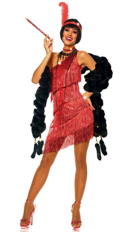 Adult Sexy Red Flapper Costume CandyAppleCostumes