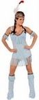 Adult Sexy Turquoise Indian Maiden Costume