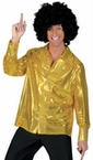 Adult Solid Gold Sequin Disco Shirt