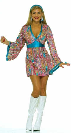 Adult Wild Swirl Go Go Dress Costume