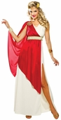 Adult Women's Red Lady Caesar Costume